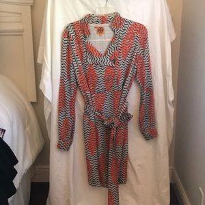 Tory Burch fully lined lightweight shirt dress